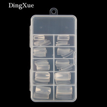 DingXue Women 100/pcs Transparent Color French /Half/Full False Nail