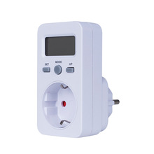 Подключите цифровой ваттметр ЖК-дисплей Мощность энергии монитор метров Электрический Тесты метр США Великобритания ЕС Plug Мощность метров