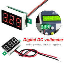 цена на Mini  0.36  Digital Voltage meter  Digital Voltmeter DC 2.5V-30V 2 Wires Red LED Display Panel Voltage Meter
