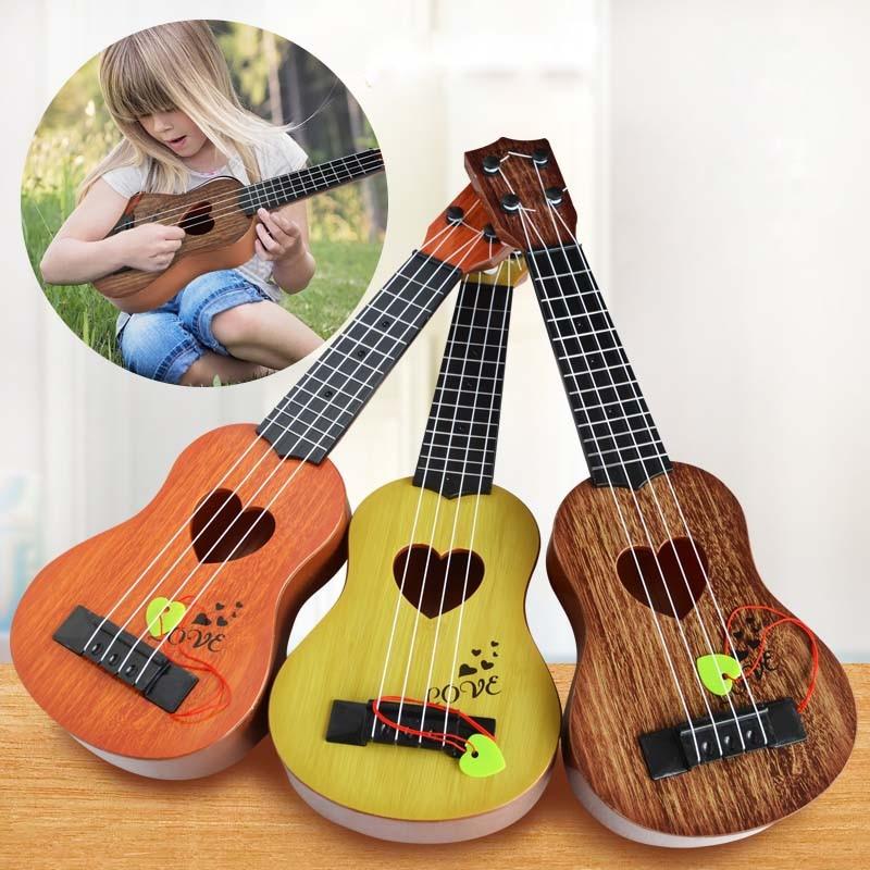 Ukulele Musical Instrument Simulation Guitar Kids Preschool Early Educational Montessori Toys For Children Christmas Gift
