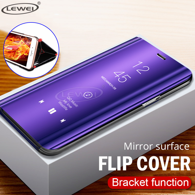 Smart Mirror Flip Phone Case For Samsung Galaxy S10 Lite S9 S8 S7 S6 Edge  Plus Clear View Cover For Samsung Galaxy Note 9 8 Case