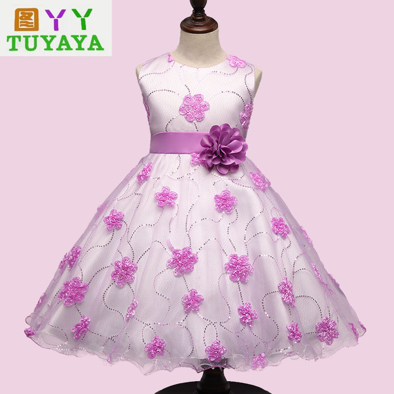 New 2017 Tulle Baby Bridesmaid Flower Girl Wedding Dress Ball Gown Birthday Prom Cloth Tutu Party Dress Teenage Girls Dresses  new hot sequins baby girls dress party gown tulle tutu bow heart shape dresses bridesmaid evening cute children dress