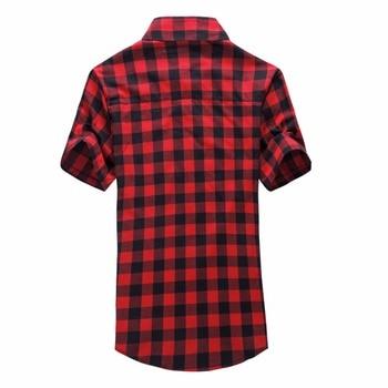 Red And Black Plaid Shirt Men Shirts 2020   5