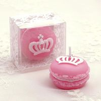 1Pcs Crown Macarons Birthday Celebration Decoration Valentine Party Cake Candle Gift New LUHONGPARTY