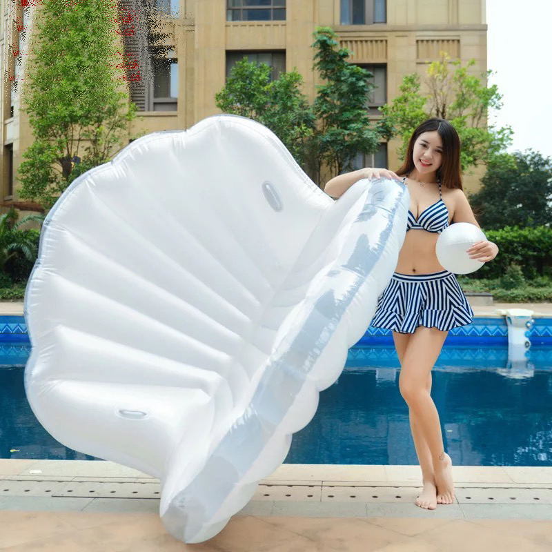 New Pool Float Inflatable Boat Shell Swimming Float Adult Swim Air Mattresses Ring Summer Water Toy With Pump hot juegos inflatable swimming ring animal modeling seat boat float boat water sports children mounts dolphin large kids toy