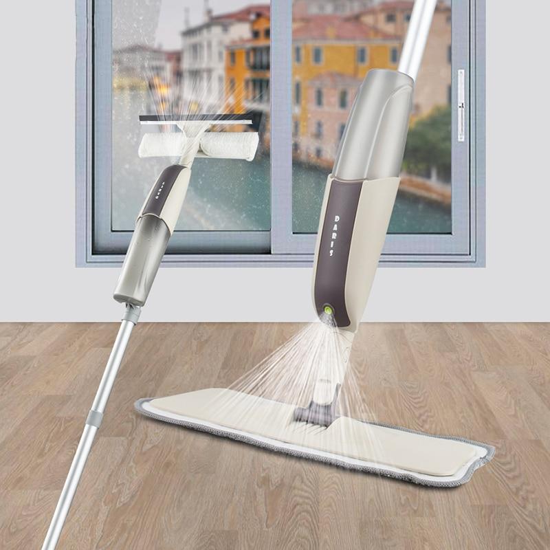 Magic Spray Mop Microfiber Cloth Floor Windows Clean Mop