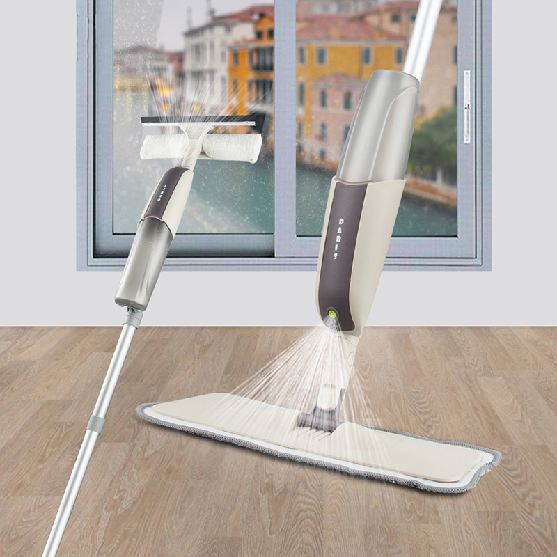 Magic Spray Mop Floor Windows Clean Mop With Long Handle High Quality Microfiber Cloth kitchen Bathroom Dedicated Cleaning Tools