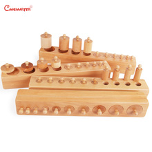 Montessori Premium Knobbed Cylinder Blocks Teaching Toys for Children Preschool 3-6 Years Sensorial Games SE001-3