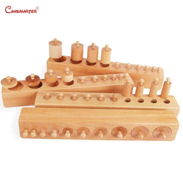 Montessori Premium Knobbed Cylinder Blocks Teaching Toys for Children Preschool 3-6 Years Sensorial Games Montessori SE001-3