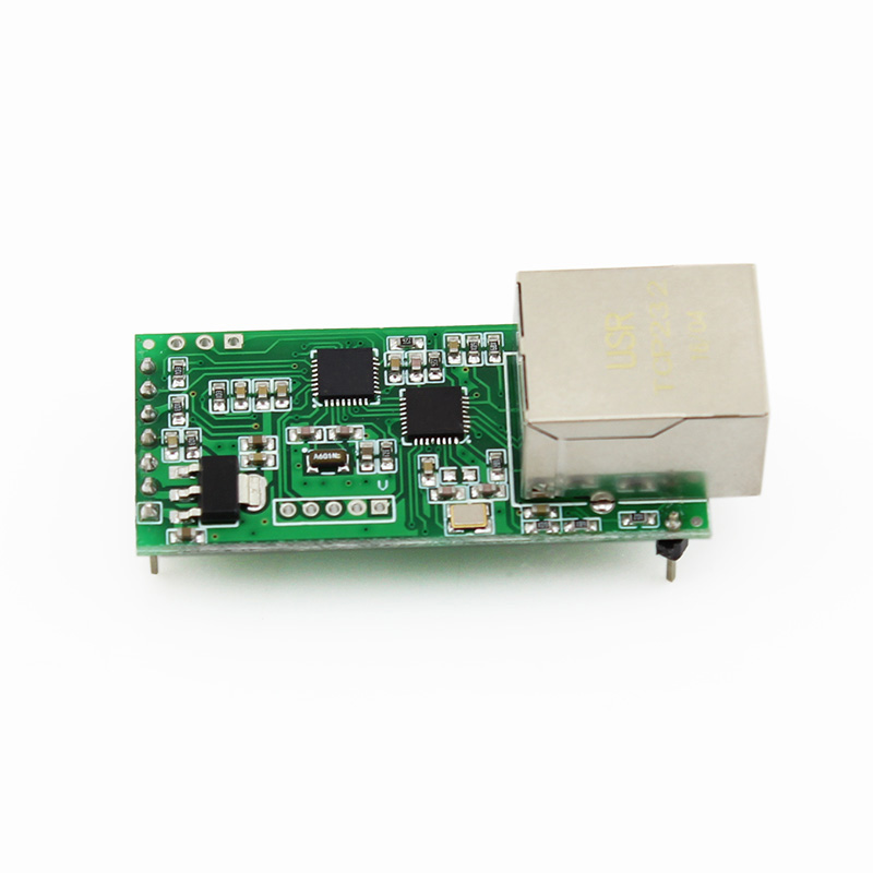 USRIOT USR-TCP232-T2 Tiny Serial Ethernet Converter Module Serial UART TTL To Ethernet TCPIP Module Support DHCP/DNS With HTTPD