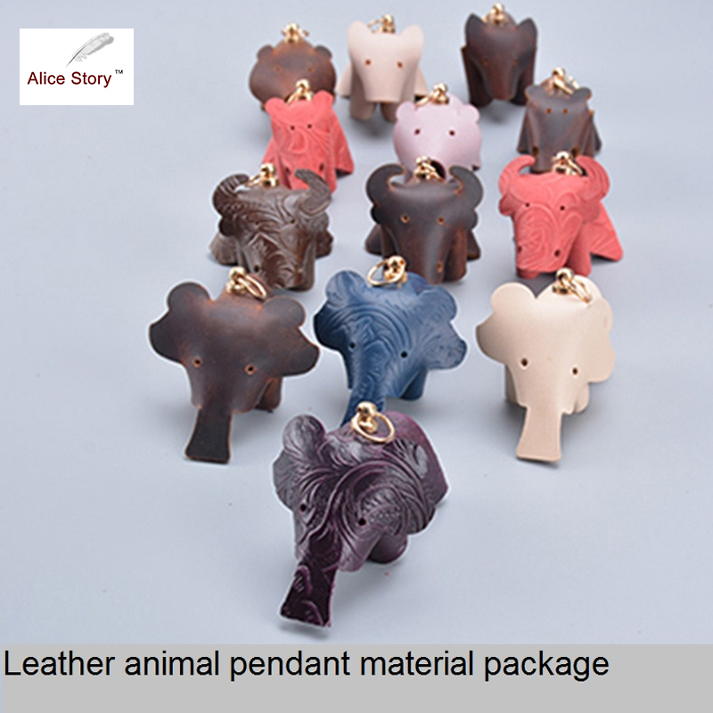 Alice Story New Arrival DIY Handmade Bookmark Material of Leather Cute Animals Style Pendant Birthday Gift Brown Color