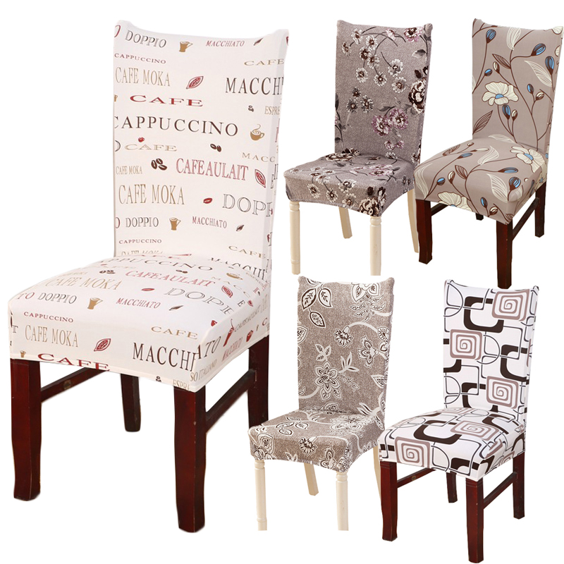 Hyha Floral Letter Dining Chair Cover Spandex Elastic Anti-dirty Slipcovers Protector Stretch Removable Hotel Kitchen Seat Case hyha king