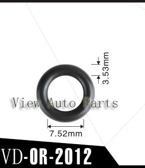 500pcs For GB3-100//ASNU08C Fuel Injector Viton Oring Size:7.52*3.53mm VD-OR-2012