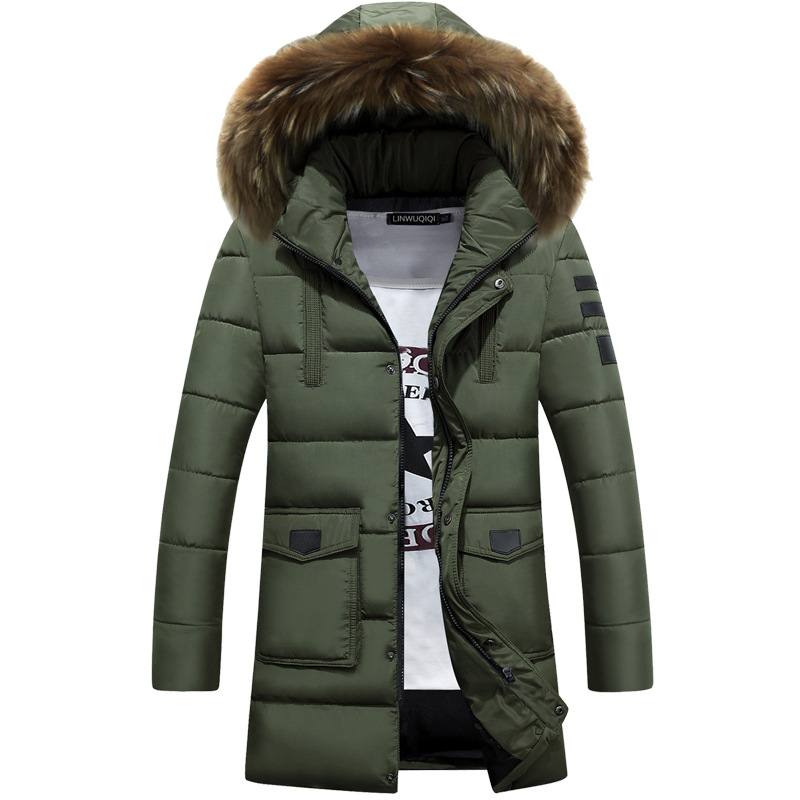 016 Winter Brand Men Down Jacket Fur Hood With Cashmere Winter Jacket High Quality Fashion Men's Coat Hot Sale Big Size M-3XL