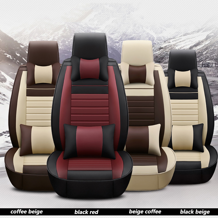 kalaisike universal leather car seat covers for Renault all models Captur megane laguna kadjar duster clio fluence scenic Koleos цена