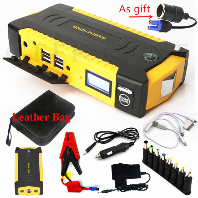 High Power 16000mAh Car Jump Starter Emergency Starting Device Power Bank Portable 12V 600A Car Charger For Car Battery Booster