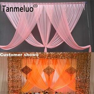 Image 2 - Di lusso rosa tenda sullo sfondo di nozze festoni per 3*3M sfondo partito di evento tenda festoni solo Colore Su Misura