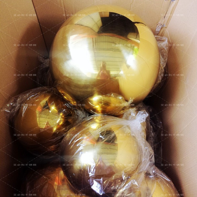 2pcs 75 mm in diameter Golden stainless steel ball,hollow ball,decoration ball,titanium plating,KTV,shops,bars,garden sphere