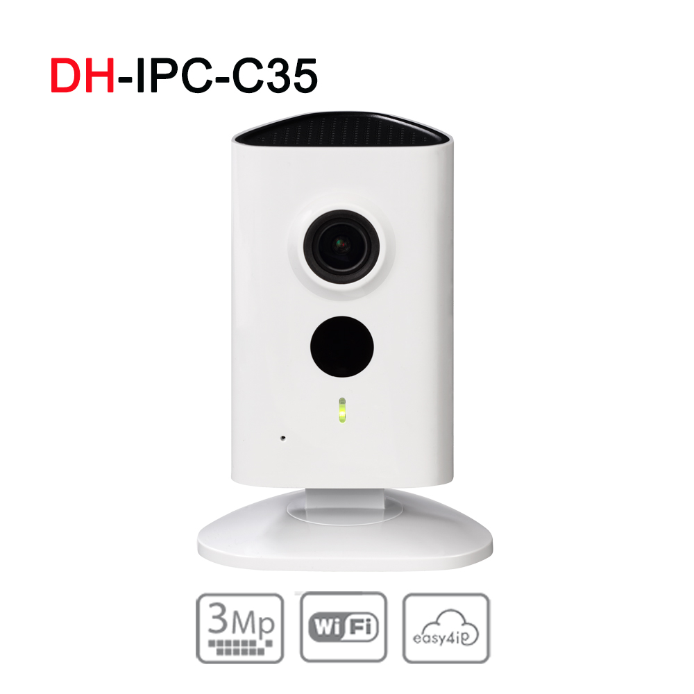 DH IPC-C35 3MP C Series Wi-Fi Network Camera Original English Upgrade verison H.264 & MJPEG Wi-Fi Support SD card slot IP Camera original english ds 2cd2432f iw hik 3mp ir cube ip network microphone wireless camera poe wi fi pir detection