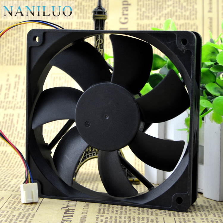NANILUO 120x120x25mm <font><b>12</b></font> <font><b>cm</b></font> AD1212UB-A73GL ball bearing four-wire intelligent temperature control <font><b>fan</b></font> for PWM <font><b>fan</b></font> 12025 for image