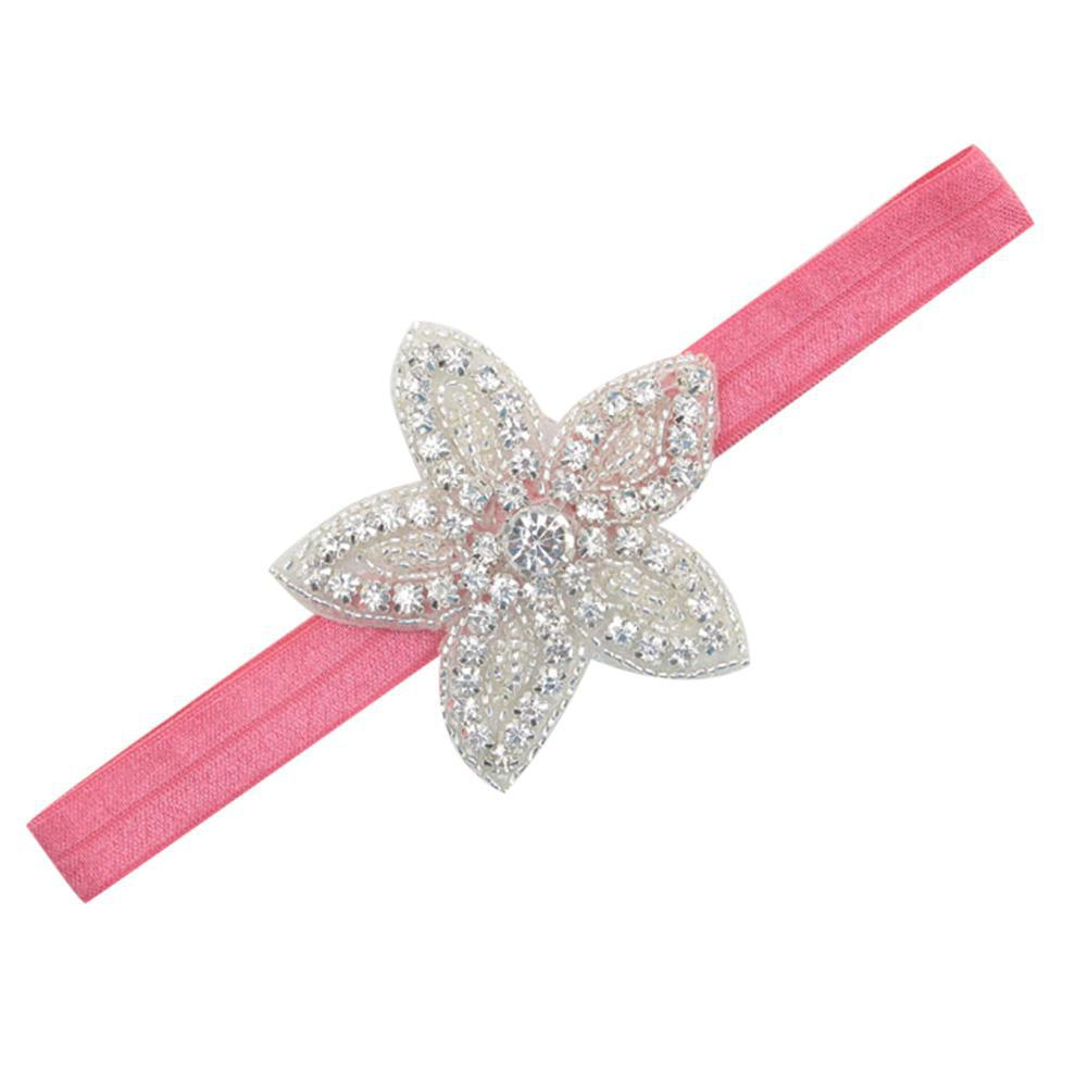 Symbol Of The Brand Cartoon Pentagram Headband Shimmer Rhinestone Headwear Hair Accessories Pink 6 Colors 2018 Summer New San0