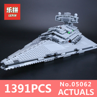 LEPIN 05062 1359Pcs Star Wars Series Emperor Starship Model Building Kit Blocks Bricks Compatible With 75055