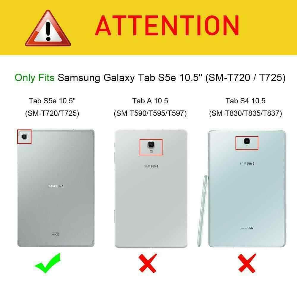 Smart Stand Case untuk Samsung Galaxy Tab S5E SM T720 T725 Tablet Cover untuk Samsung Galaxy Tab S5e Case Auto Sleep Wake kasus