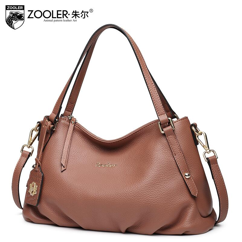 ZOOLER 2017 New Superior cowhide Genuine Leather fashion luxury handbags women bags designer women handbags bag High capacity