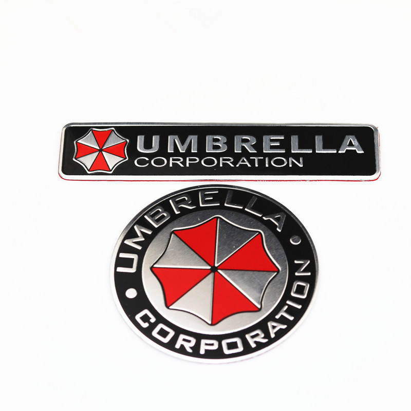 Car styling 3D car stickers Aluminum alloy Umbrella corporation  Resident Evil decals emblem decorations badge auto accessories