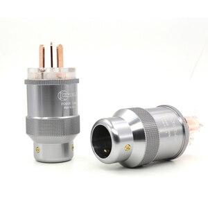 Image 2 - Hi End Rood koper AU netsnoer Australië standaard stekkers + IEC Connector voor Hifi audio diy power kabels