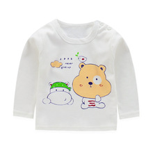 baby girl and boy clothes  long sleeve kidsT-shirt quality 100% cotton children cartoon clothes tops tshirt kids costume children clothes long sleeve strawberry patten 100
