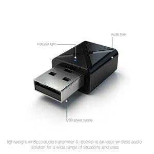 Image 3 - 100 قطعة/الوحدة USB اللاسلكية استقبال الإرسال بلوتوث V5.0 الصوت الموسيقى ستيريو محول دونغل للتلفزيون PC سمّاعات بلوتوث