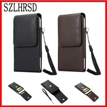 990eec83fea0 SZLHRSD Belt Clip PU Leather Waist Holder Flip Pouch Case for Blackview A20  OnePlus 6 for Huawei Y6 Prime 2018 Leagoo M9 Pro