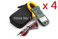 4 pçs/lote MS2138 Mini LCD Portátil Multímetro Digital Clamp Meter Eletrônico Auto-Ranging