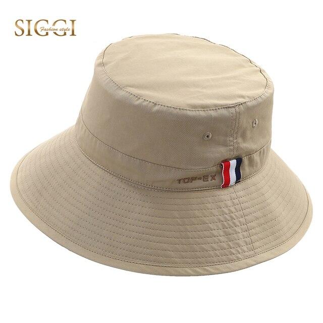 db187d55d000d SIGGI Unisex Cotton Bucket Boonie Folding Hat Cap Chin Strap Men Packable  Breathable UPF UV 50+ Fishing Hiking 68047