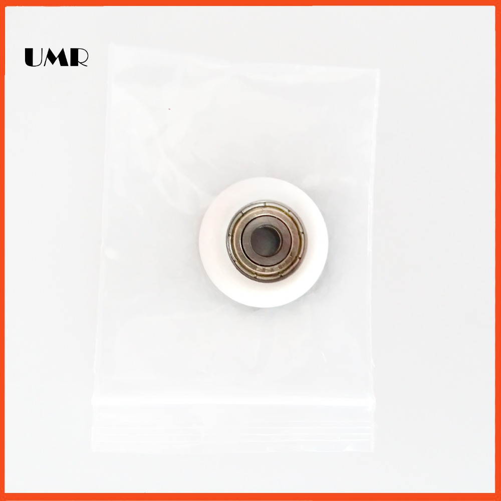 625ZZ BT0523 5 x23x 7mm Outer plastic bread ball bearing nylon wheel hanging pulley wheel doors and windows 625zz bt0523 5 x23x 7mm outer blue pom bread ball bearing nylon wheel hanging pulley wheel doors and windows