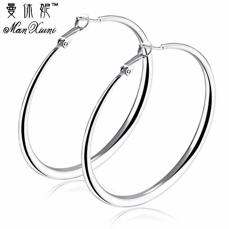 a24db501ecb3d US $3.14 50% OFF Silver Big Circle 70mm Hoop Earrings Women Jewelry  Accessories Large Round Loop Earring 1pairs Wedding Jewelry 2017 Punk Gi-in  Hoop ...