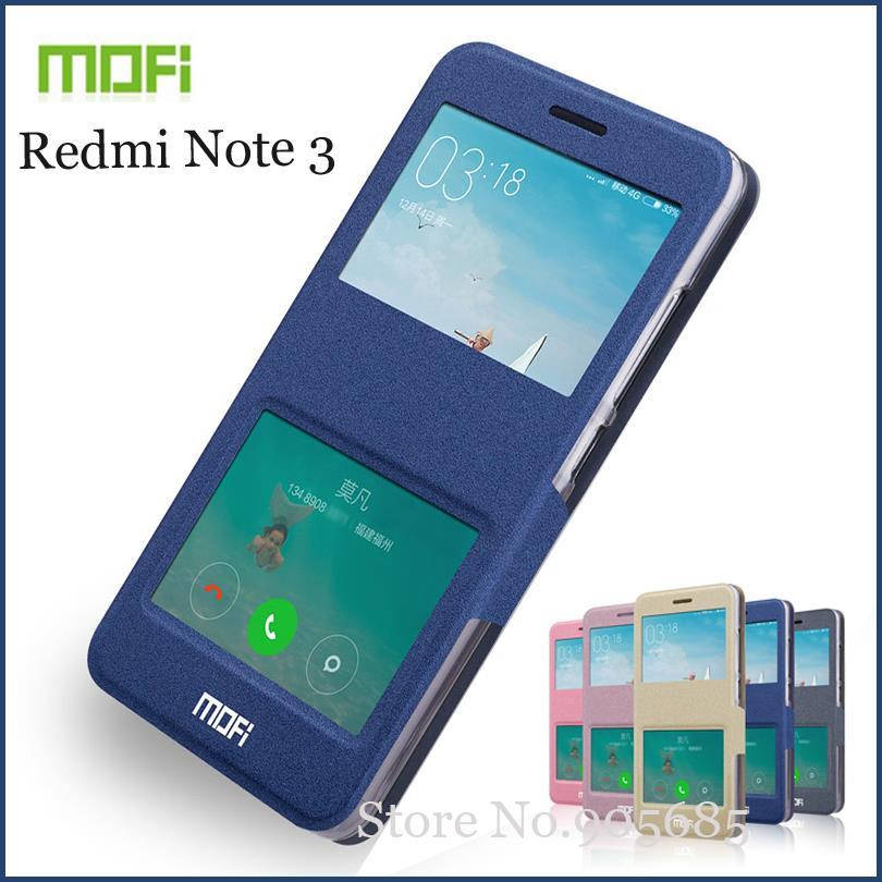 Pouzdro Mofi For Redmi Note 3 Otevřené okno Pouzdro Flip Pu Kožené pouzdro Stojan pro pouzdro Redmi Note 3