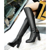 Drop Shipping 2013 New Hot Fashion Sexy Ladies Boots Women Knee High Boots Women Shoes Big