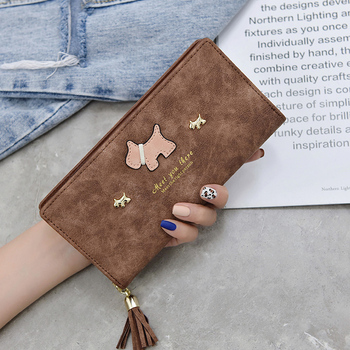 Women Wallets Cartoon Dog Purses Long  For Girl Ladies Money Coin Pocket Card Holder Female Phone Clutch Bags