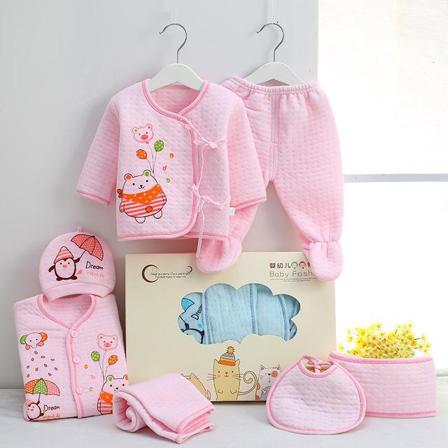 7 PCS/set 0-6M Newborn Baby Clothing Gift Box Set 100% Cotton