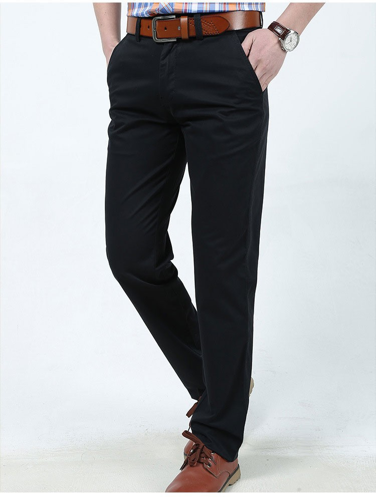 4 Colors 30-42 100% Cotton Fashion Joggers Men Casual Long Pants Men\'s Clothing Black Khaki Pants Trousers Autumn Summer Brand (6)