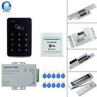 Le Kit de système de serrure de contrôle d'accès de RFID a placé le lecteur de carte de 125 KHz EM avec la serrure magnétique de 180 KG/serrure électrique de boulon de grève pour la maison/bureau