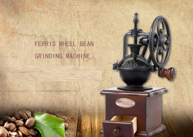 Coffee Manual Grinding  Italy Manual coffee beans grinder classic design with ceramic burr leisurely  European taste