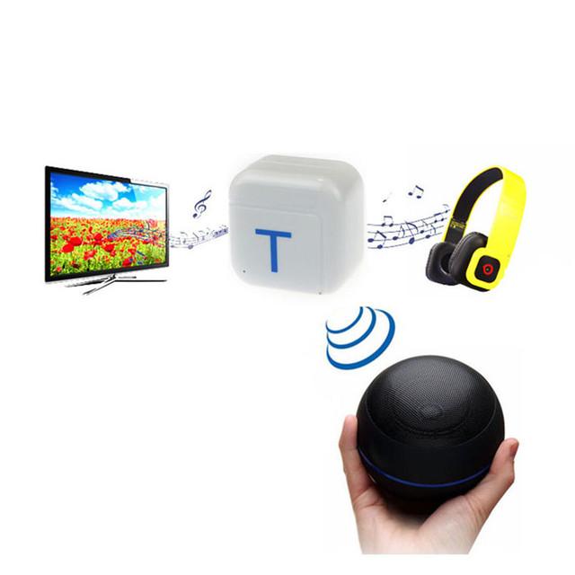 Mecall 1 PC A2DP 3.5 mm estéreo de alta fidelidade de áudio Bluetooth Dongle transmissor