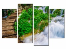 4 Pcs/Set Nature Pastoral landscape Canvas Painting Wall Picture Decorative Home Decor Modular Paintings/JO13-005