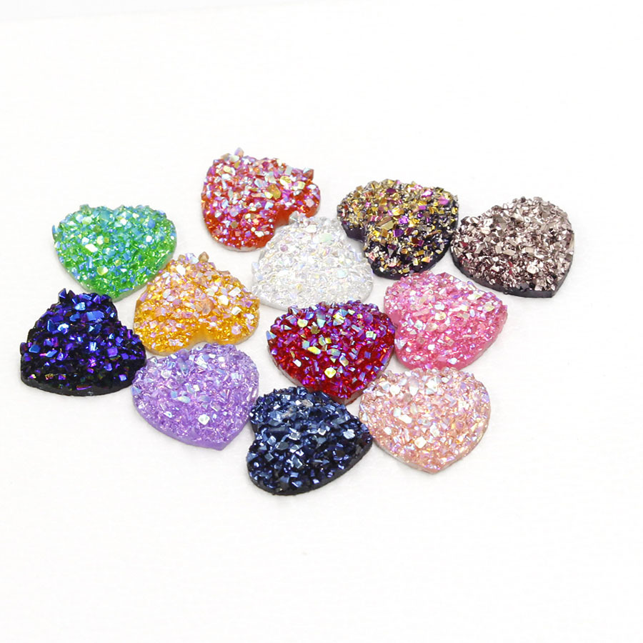 20pcs 12mm Heart Shape Mix Colors Natural Stone Convex Series Flat Back Resin Cabochons Jewelry Accessories Wholesale Supplies20pcs 12mm Heart Shape Mix Colors Natural Stone Convex Series Flat Back Resin Cabochons Jewelry Accessories Wholesale Supplies