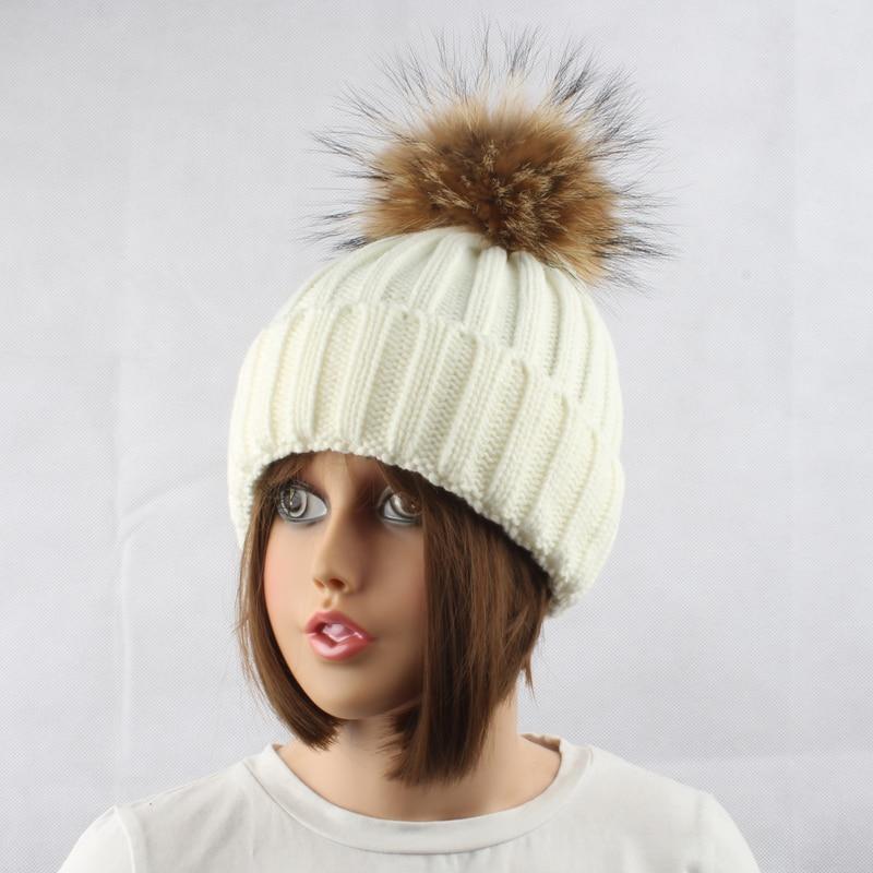 FURANDOWN Musim Dingin Tebal Hangat Wol Knitting Beanie Topi Untuk - Aksesori pakaian - Foto 6