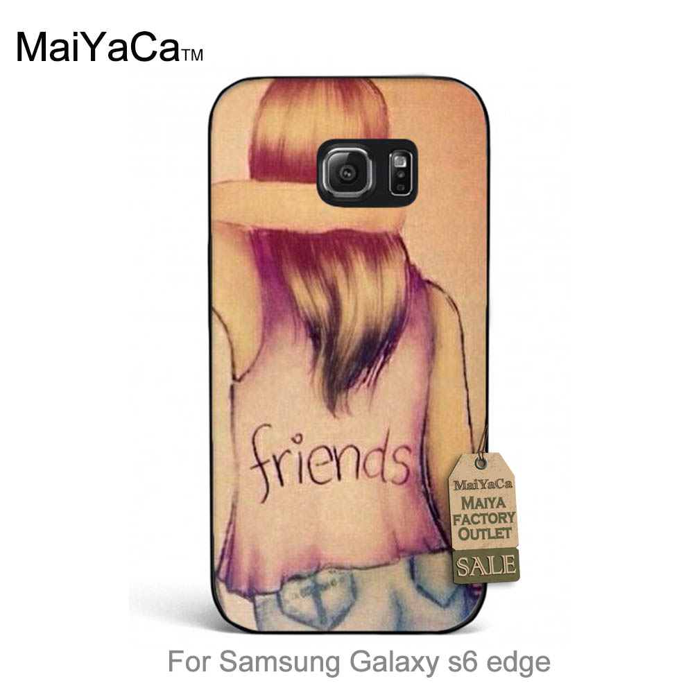 Mejor amigo bff chica amante regalo colorido accesorios para case teléfono s6