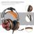 G6 profesional juego de auriculares con micrófono auriculares para juegos de auriculares de 3.5mm estéreo brillante Luz LED USB para PC de la Computadora